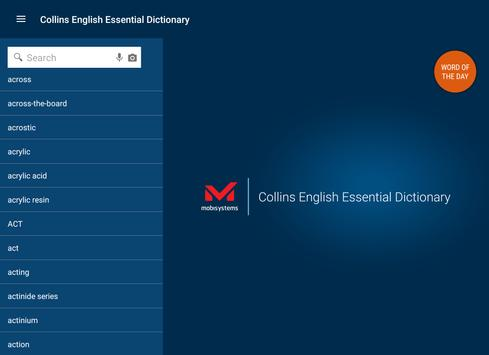 Collins Essential English Dict apk screenshot