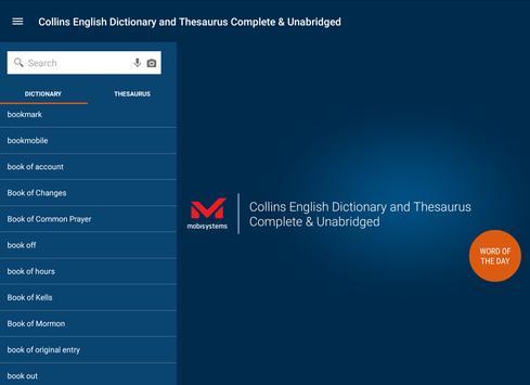 Collins English and Thesaurus apk screenshot