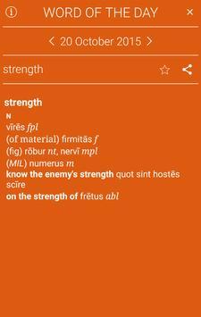 Collins Latin Dictionary apk screenshot
