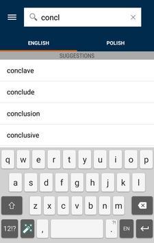 Collins Polish Dictionary apk screenshot