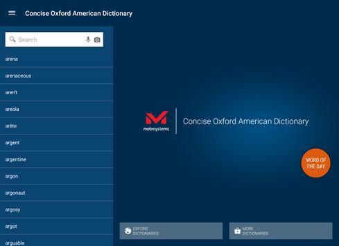 Concise Oxford American Dict apk screenshot
