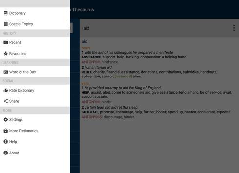 Concise Oxford American Thesau apk screenshot