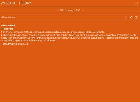 Concise Oxford Thesaurus apk screenshot