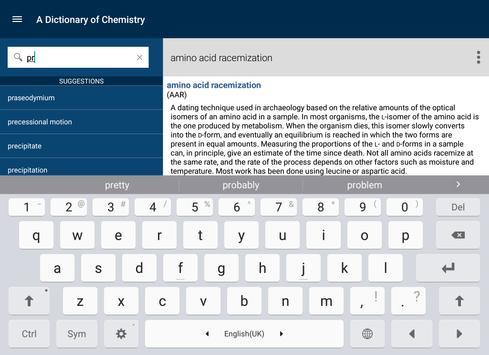 Oxford Dictionary of Chemistry apk screenshot
