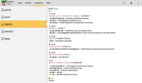 Dictionary English<>French Tr apk screenshot