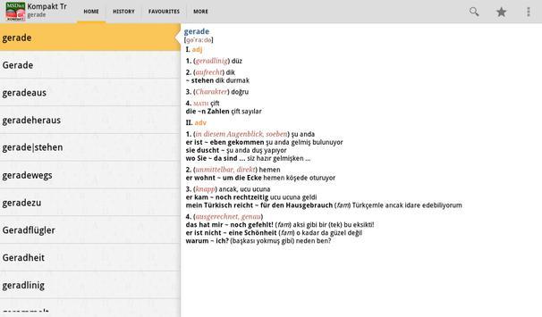 Dictionary Turkish<>German TR apk screenshot