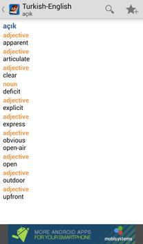 Turkish<>English Dictionary apk screenshot