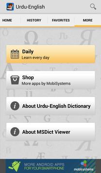 Urdu<>English Dictionary apk screenshot