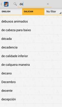 Galician<>English Dictionary apk screenshot