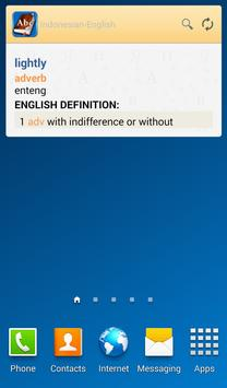 Indonesian<>English Dictionary apk screenshot