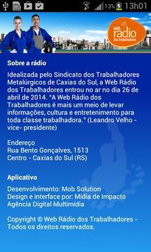Web Rádio dos Trabalhadores apk screenshot