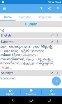 Myanmar Dictionary apk screenshot