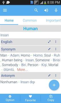 Turkish Dictionary apk screenshot