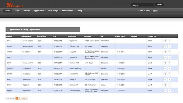 Mobyforce Jewel CRM apk screenshot