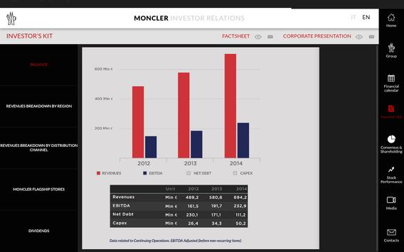 Moncler Investor Relations apk screenshot