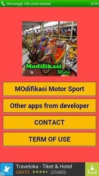 Modifikasi Motor Sport poster
