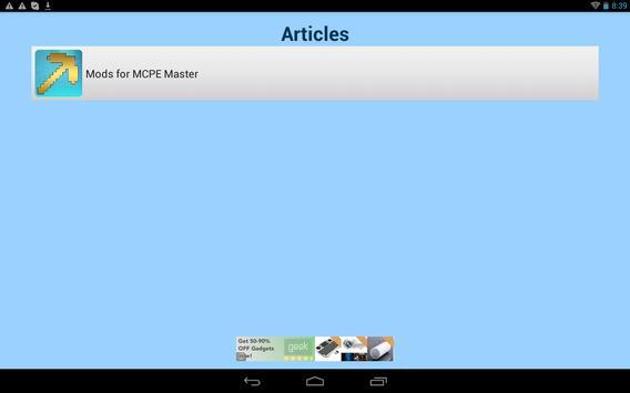 Mods for MCPE Master apk screenshot