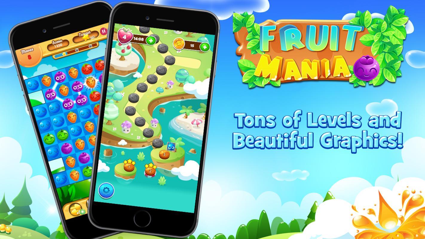 Fruit link 3 -  Fruit Crush Link Mania Apk Screenshot