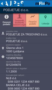 mFi-Po AJPES apk screenshot