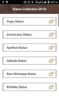 10000+ Status Collection 2016! apk screenshot