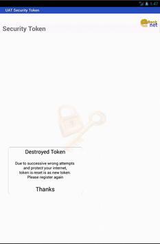 UAT Security Token apk screenshot