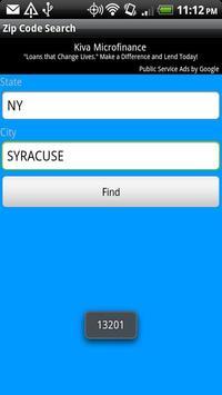 Zip Code Search apk screenshot