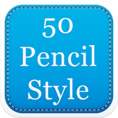 50 Pencil Fonts Style icon