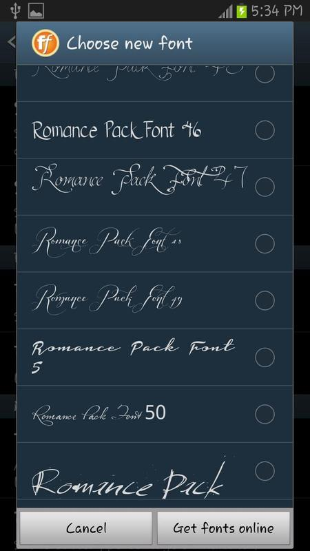 Download 50 Romance Fonts Style APK Download - Free Productivity ...