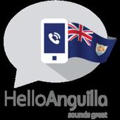 Hello Anguilla, Let's call icon