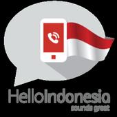 Hello Indonesia, Let's call icon