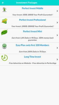 Perfect Invest - HYIP apk screenshot