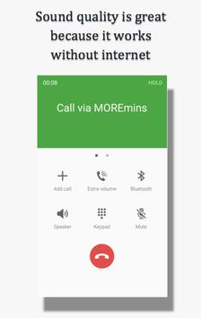 MOREmins international calls apk screenshot