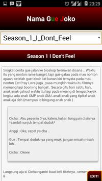 Nama Gue Joko | SFTH Novel apk screenshot