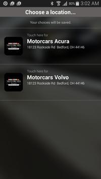 Motorcars Acura Volvo poster