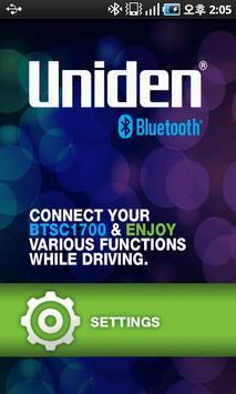 Uniden BTSC 1700 Carkit Applic poster