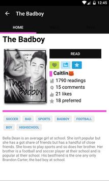 Badboy Fanfiction apk screenshot