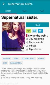 Supernatural Fanfiction apk screenshot