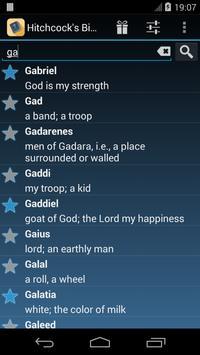 The Bible Names Dictionary apk screenshot