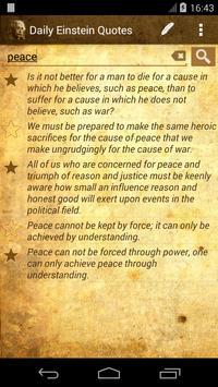Daily Einstein Quotes apk screenshot