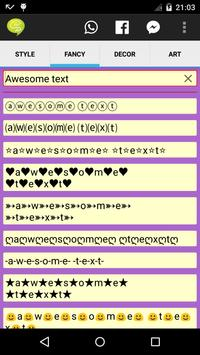 Stylish & Fancy Text Generator apk screenshot