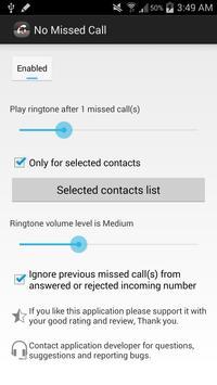No Missed Call (NMC) apk screenshot
