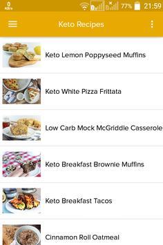 Ketogenic Diet Recipes Guide apk screenshot