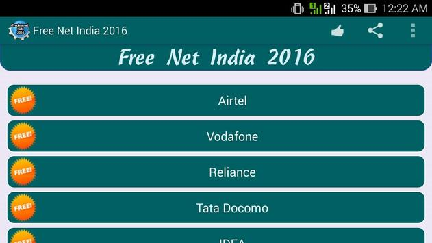 Free Internet India 2016 apk screenshot
