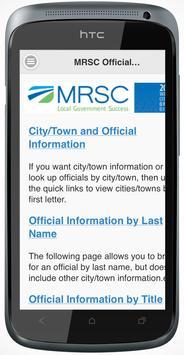 MRSC Officials Directory poster