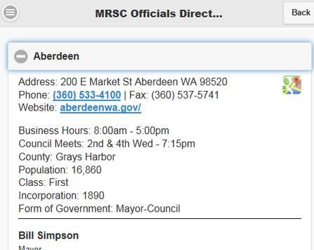 MRSC Officials Directory apk screenshot