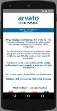 Praca Arvato - #Job4Real apk screenshot