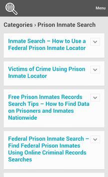 Inmate Search Tips apk screenshot