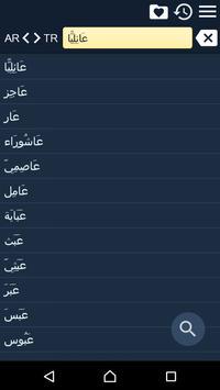 Arabic Turkish Dictionary Free poster