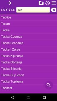 English Serbian Dictionary II apk screenshot