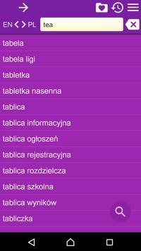 English Polish Dictionary Free apk screenshot